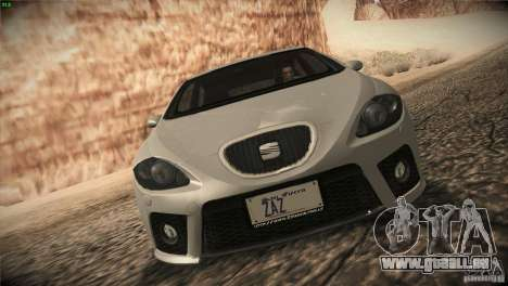 Seat Leon Cupra pour GTA San Andreas laissé vue