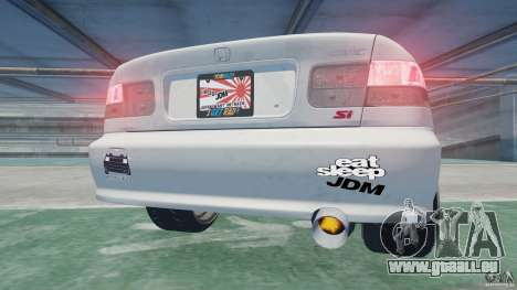 Honda Civic Si 1999 JDM [EPM] pour GTA 4 Vue arrière