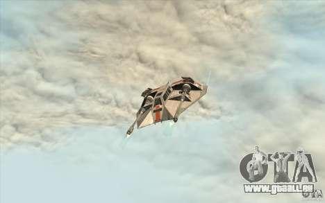 T-47 Snowspeeder für GTA San Andreas Rückansicht