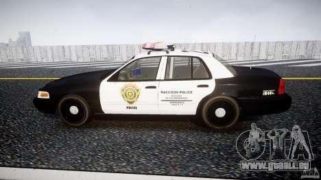 Ford Crown Victoria Raccoon City Police Car pour GTA 4 est une gauche