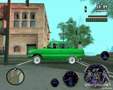 ZAZ 968 m für GTA San Andreas Unteransicht