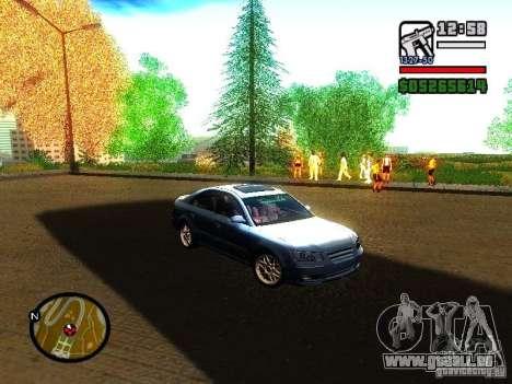2008 Hyundai Sonata pour GTA San Andreas laissé vue