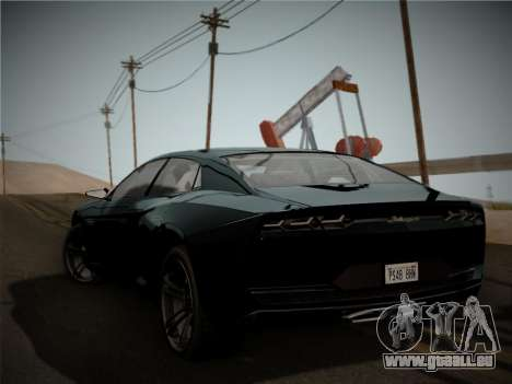 Lamborghini Estoque Concept 2008 für GTA San Andreas rechten Ansicht
