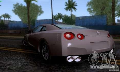 Nissan GTR R35 Tuneable pour GTA San Andreas laissé vue