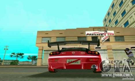 Mazda RX7 Charge-Speed pour GTA Vice City vue arrière