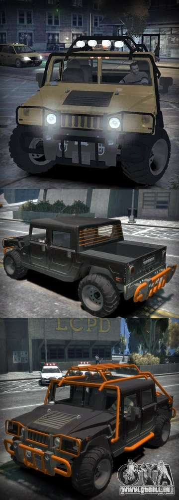 Hummer H1 4x4 Extras für GTA 4