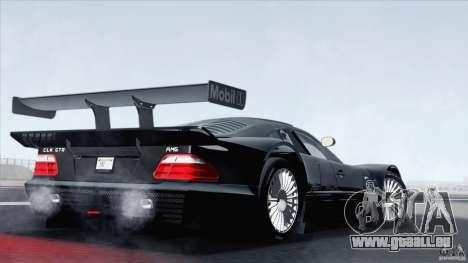 Mercedes-Benz CLK GTR Race Car pour GTA San Andreas laissé vue