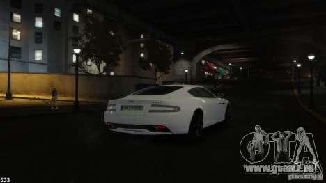 Aston Martin Virage 2012 v1.0 für GTA 4 Innen