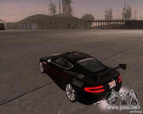 Aston Martin DB9 tunable für GTA San Andreas rechten Ansicht