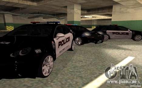 Porsche Cayenne Turbo 958 Seacrest Police pour GTA San Andreas vue arrière