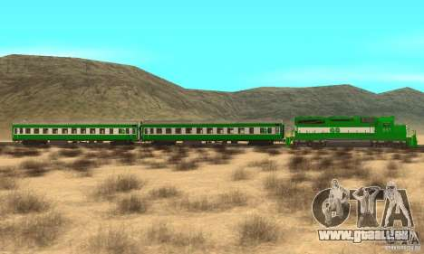 THE GO Transit Train pour GTA San Andreas laissé vue