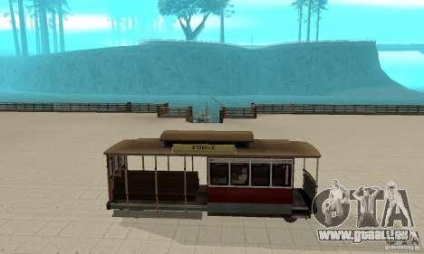 Tram pour GTA San Andreas sur la vue arrière gauche