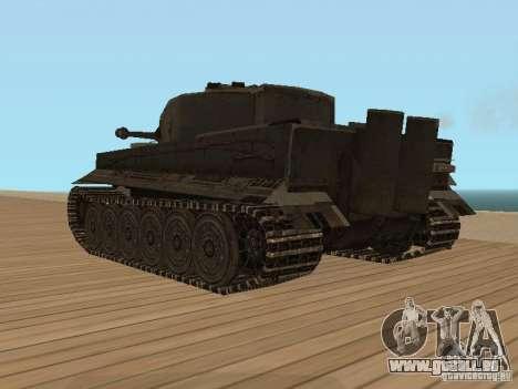 Pzkpfw VI Tiger pour GTA San Andreas laissé vue