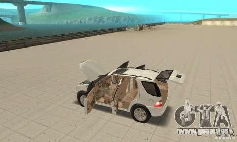Mercedes-Benz ML 430 pour GTA San Andreas vue intérieure