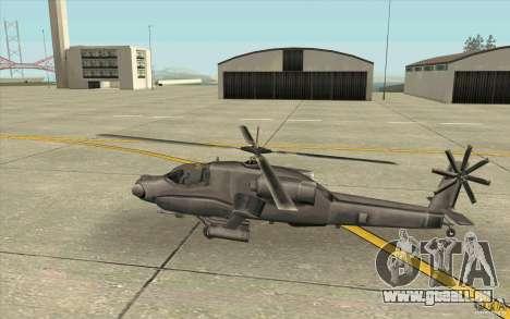 Steal Hunter pour GTA San Andreas sur la vue arrière gauche