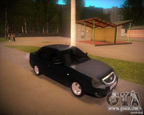 Lada Priora Suite pour GTA San Andreas sur la vue arrière gauche