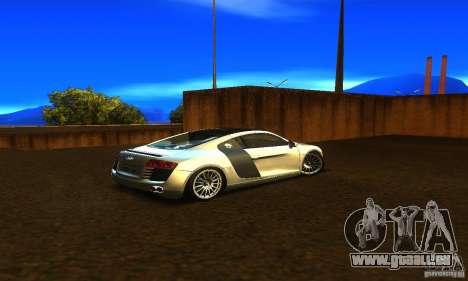 Audi R8 V12 TDI für GTA San Andreas zurück linke Ansicht