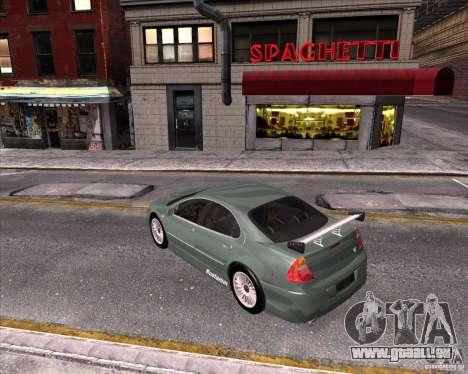 Chrysler 300M tuning pour GTA San Andreas vue intérieure