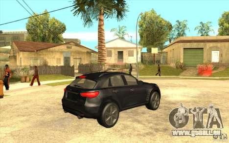 Infiniti FX50 Beta pour GTA San Andreas vue de droite