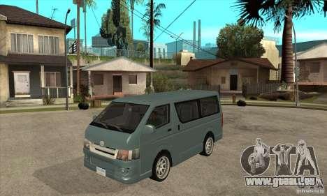 Toyota Hiace pour GTA San Andreas laissé vue