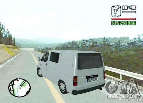 Ford Transit 1999 pour GTA San Andreas sur la vue arrière gauche