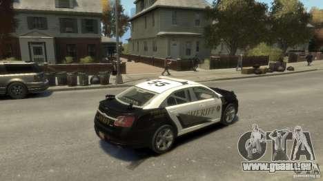 Ford Taurus Sheriff 2010 für GTA 4 Rückansicht