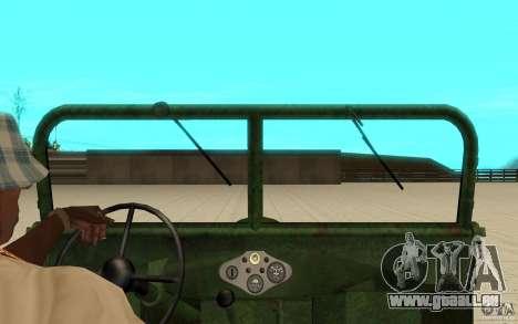 Gaz-67 pour GTA San Andreas vue de droite