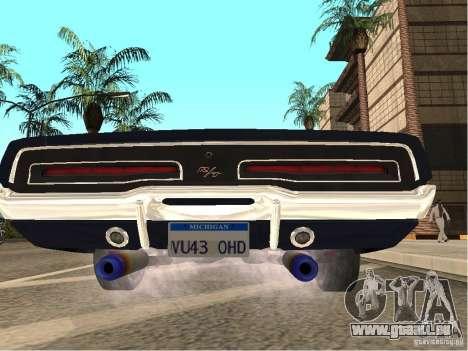 Dodge Charger RT Light Tuning für GTA San Andreas zurück linke Ansicht