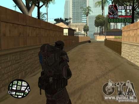 Marcus Fenix de Gears of War 2 pour GTA San Andreas quatrième écran