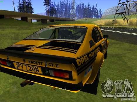 Opel Kadett pour GTA San Andreas laissé vue