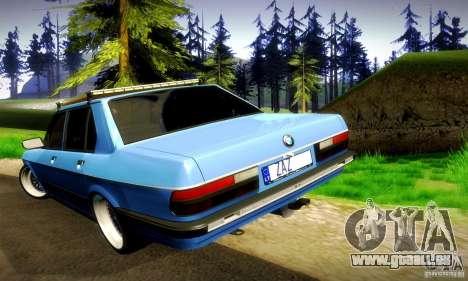 BMW E28 525e RatStyle No1 für GTA San Andreas obere Ansicht