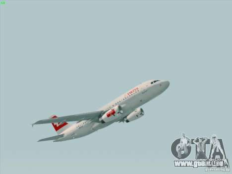 Airbus A319-112 Swiss International Air Lines pour GTA San Andreas laissé vue