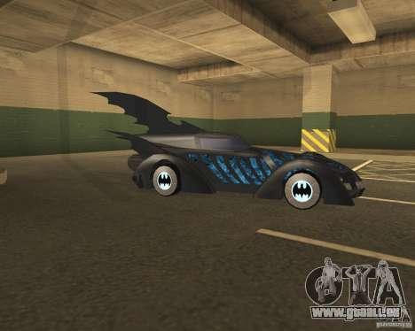 Batmobile pour GTA San Andreas vue de droite