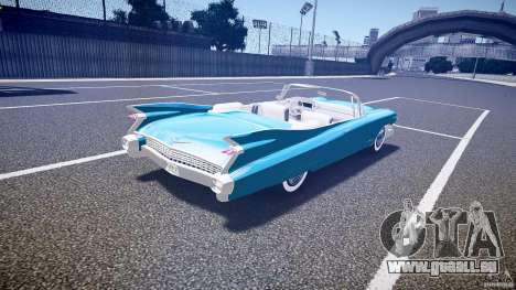 Cadillac Eldorado 1959 interior white pour GTA 4 vue de dessus
