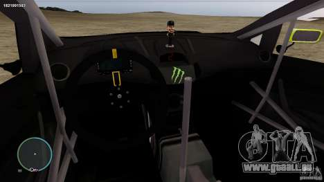 Ken Block Ford Fiesta 2011 für GTA 4 Innenansicht