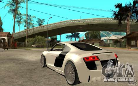 Audi R8 5.2 FSI custom für GTA San Andreas zurück linke Ansicht