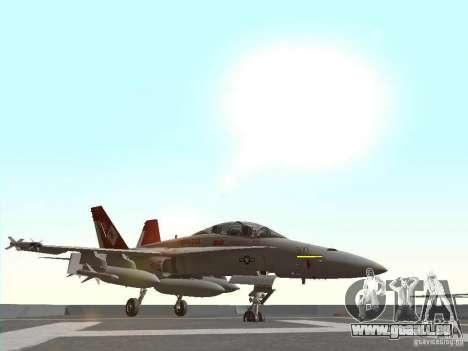 FA-18D Hornet pour GTA San Andreas laissé vue
