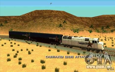 Décrochage des wagons pour GTA San Andreas quatrième écran