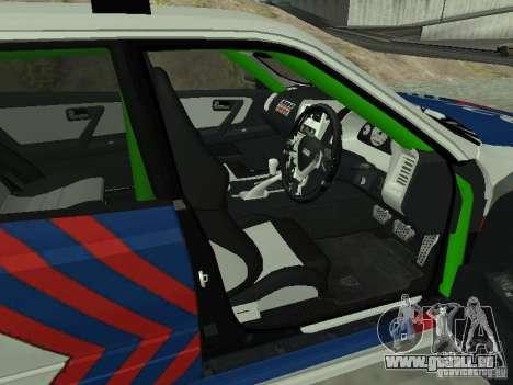 Nissan Skyline Indonesia Police pour GTA San Andreas sur la vue arrière gauche