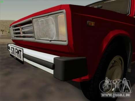 LADA 2105 RIVA (exportation) 2.0 pour GTA San Andreas vue arrière