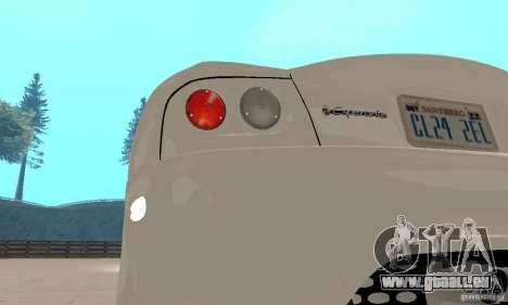 Panoz Esperante GTLM 2005 pour GTA San Andreas vue intérieure