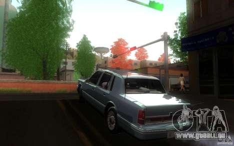 Lincoln Towncar 1991 für GTA San Andreas zurück linke Ansicht