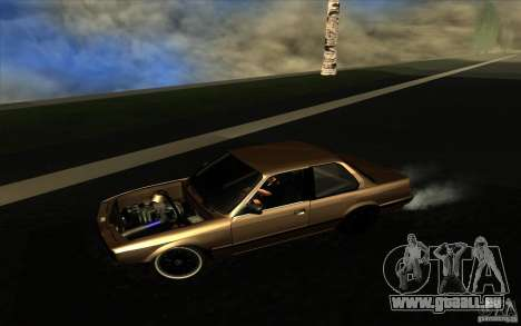 BMW E30 2.7T pour GTA San Andreas laissé vue