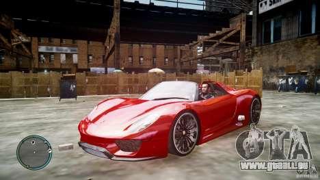 Porsche 918 Spyder Concept pour GTA 4