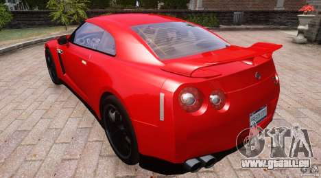Nissan GTR R35 v1.0 für GTA 4 Rückansicht