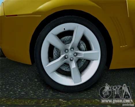 Chevrolet Camaro 2007 pour GTA San Andreas sur la vue arrière gauche