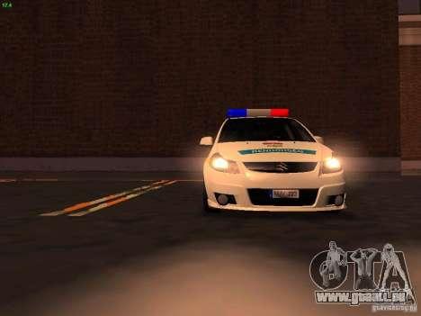 Suzuki SX-4 Hungary Police für GTA San Andreas Motor