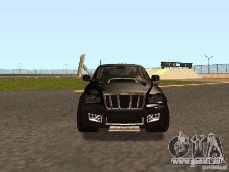 Jeep Grand Cherokee Black pour GTA San Andreas laissé vue