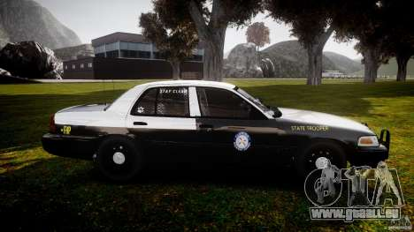 Ford Crown Victoria 2003 Florida CVPI [ELS] pour GTA 4 est une vue de l'intérieur