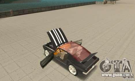 Pontiac Flamingo für GTA San Andreas Innenansicht